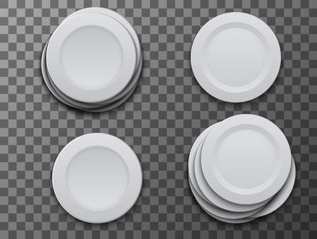 vector modern dish plate on transparent background Stock Illustratie