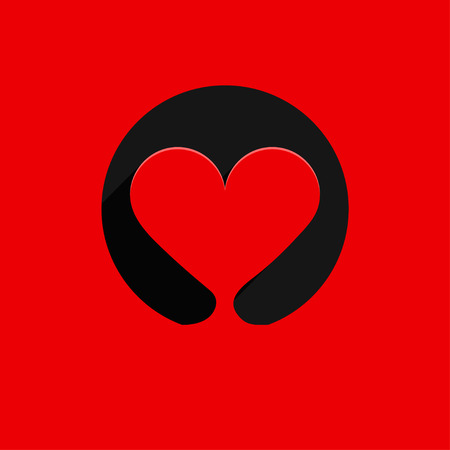Vector heart logo icon background