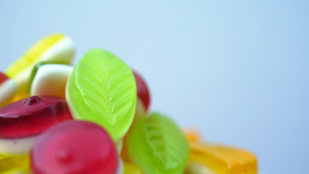 bright tasty colourful marmalade jelly candies. Stockfoto - 106785620