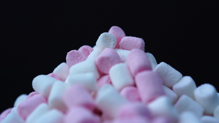Marshmallow pink and white candy background Stockfoto