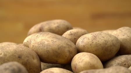 close up Potato pile background