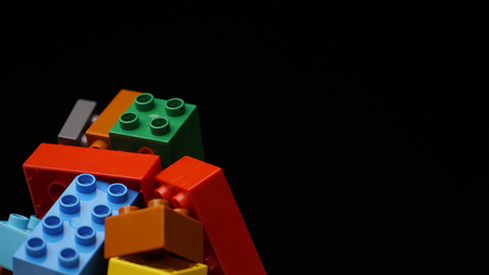 colorful plastic constructor background