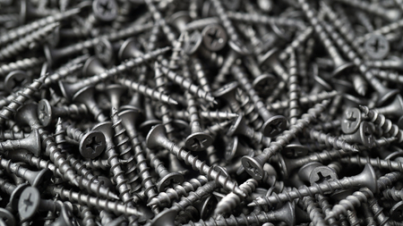 many self tapping screws background Stockfoto