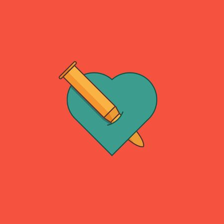 vector concept the bullet hurts the heart motion background  イラスト・ベクター素材
