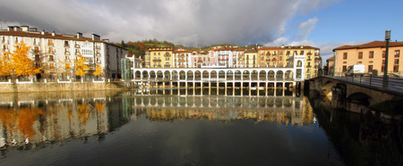Tolosa Village Panorama, Basque Country, Spain