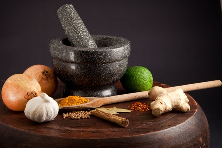 ingredients for an exotic meal photo