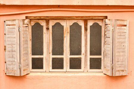 wooden window shutters in morocco Stock Photo - 10041116