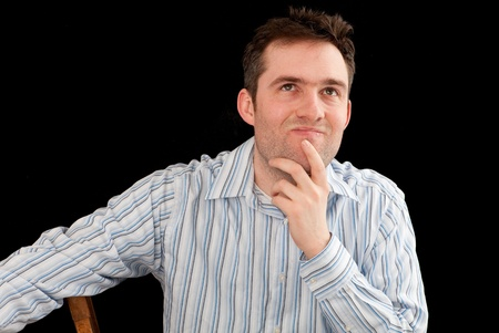 pondering: young man pondering