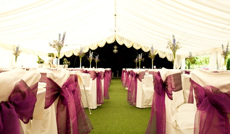 marquee: inside a wedding marquee