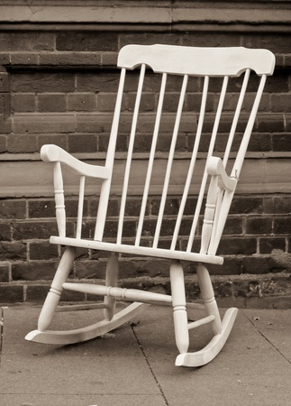 antique chair: Rocking chair Stock Photo