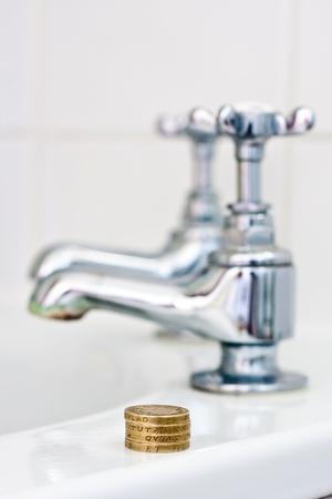 Konzept der Kosten für Wasser
