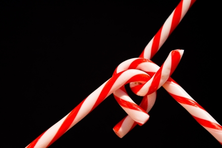 candy canes on black