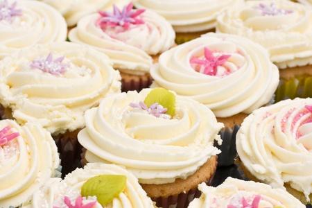 Sortiment von frisch backt Kuchen mit Buttercreme Zuckerguss