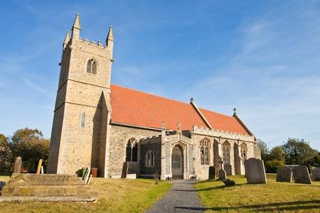 suffolk: Old church in Fornham All Saints, a small village in Suffolk, England