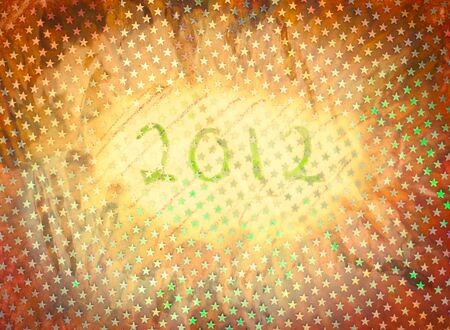 arty: New year 2012 textured arty background