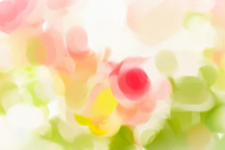Nice digital watercolour image of a bunch of pink roses Stock Photo