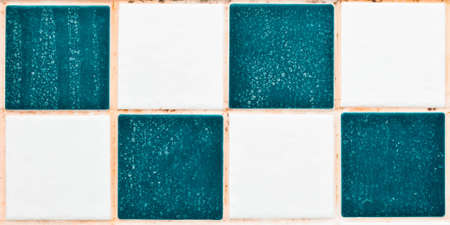 limescale: Close up of bathroom tiles showing mould and limescale Stock Photo