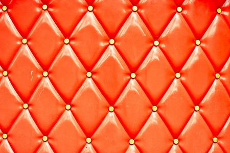 Vibrant retro style leather couch uoholstery as a background photo