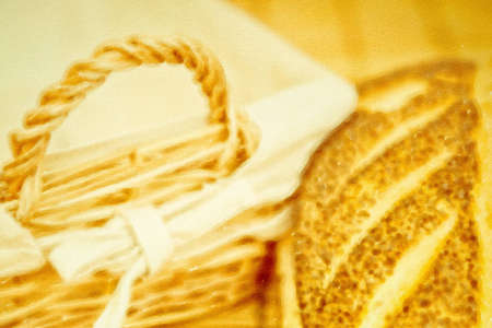 Digital drawing on canvas of freshly baked home made bread photo