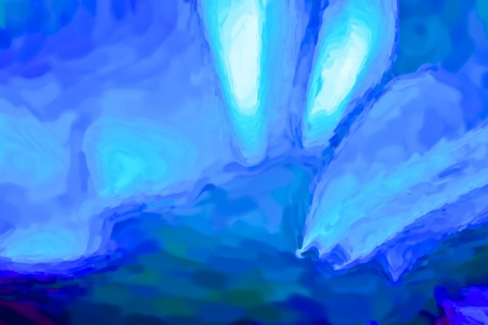 Abstract digital painting in blue tones as a background photo
