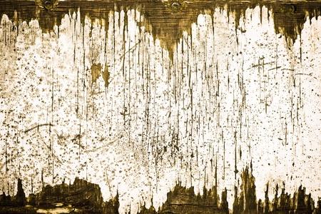 flaky: An interesting pattern of peeling paint on old wood Stock Photo