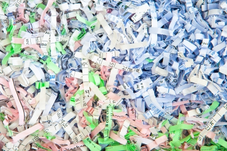 Detailed background image of colorful shredded paper photo