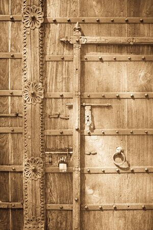 Background detailed image of an old wooden door photo