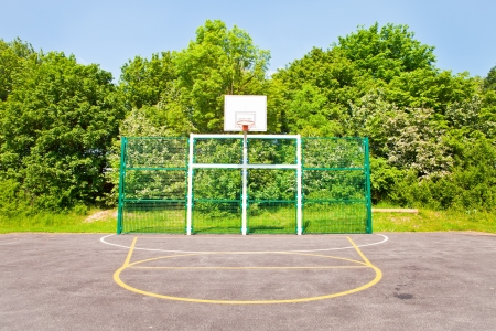 A modern basketball court in the UK