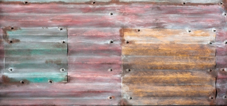 Colorful corrugated metal surface as a background image photo