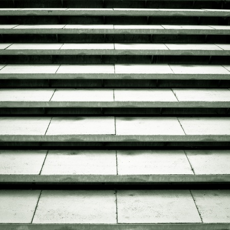 Outdoor concrete steps in dramatic black and white tones photo