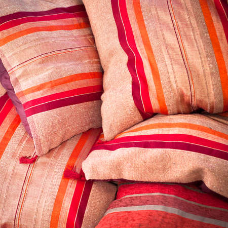 Close up image of colorful moroccan cushions Stock Photo - 15636523