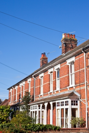 row houses: Fila di case vittoriane in una citt� Regno Unito Archivio Fotografico