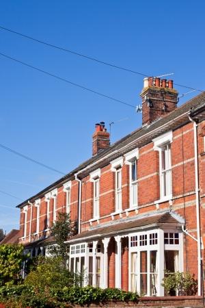 Row of viktorianischen Stadthäusern in einer britischen Stadt