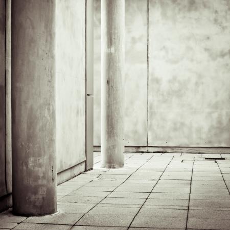noone: L'architettura moderna e con pilastri di cemento Archivio Fotografico