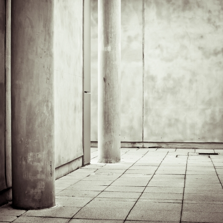 unsaturated: Modern architecture with pillars and concrete