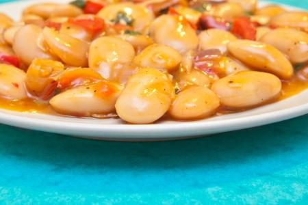 Close up of a mediterranean bean salad Stock Photo