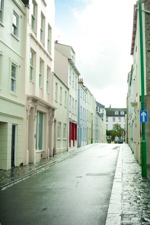Colorful town houses in St Peter Port, Guernsey photo