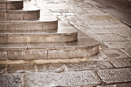 Nice toned image of a flight of stone steps Stock Photo - 16772221