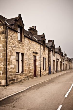 Row of traditional stone houses in a scottish village Stock Photo - 17630805