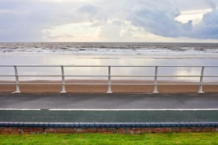 Seaside promenade in South Wales in winter