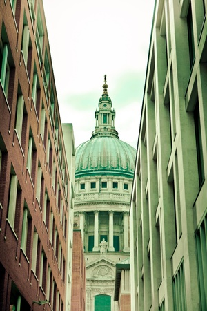 east end: Dome of St. Pauls Cathedral in London