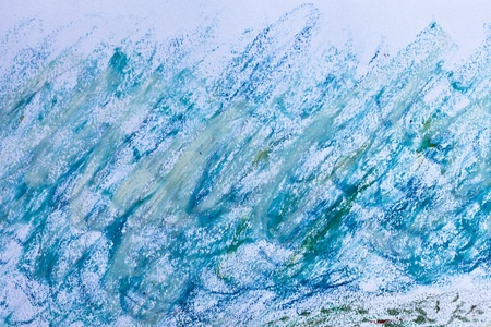 Close up of oil pastel marks on white paper photo