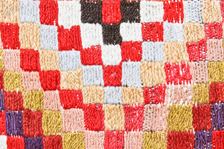Close up of a vibrant textile as a background Stock Photo - 22526435