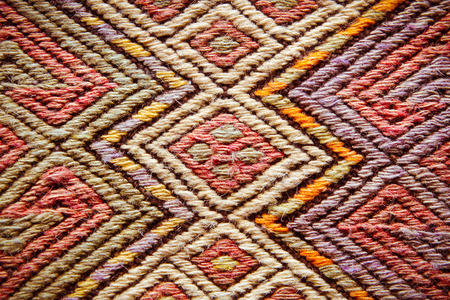 Close up of detailed pattern on a turkish rug Stock Photo - 22526443