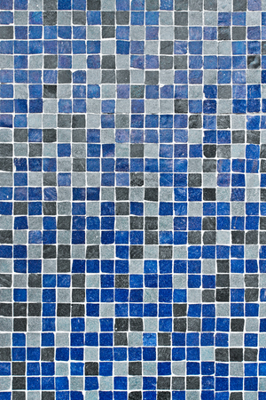 bathroom design: Blue and grey square mini tiles as a detailed background