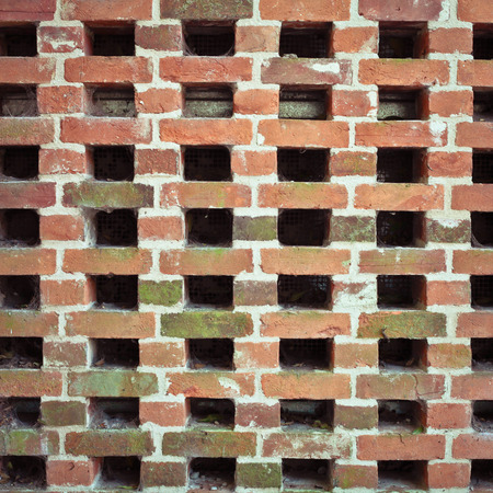 criss: Criss cross pattern in a brock wall as a background