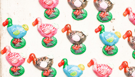 Dodo souvenir fridge magnets on sale at a mauritian market Stock Photo - 24884042