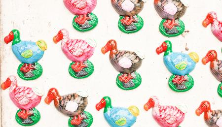 Dodo souvenir fridge magnets on sale at a mauritian market Stock Photo - 24884042
