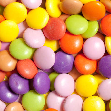 Close up of sugar coated candy as a background photo