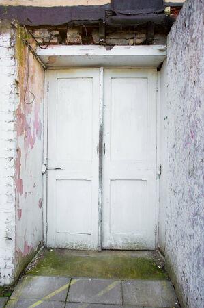 derelict: A doorway in a derelict old building